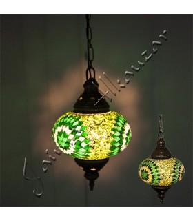 Türkische Lampe - Glas Murano - Mosaik - hohe Qualität - 25 cm
