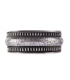 Bangle silver Floral line - NOVELTY