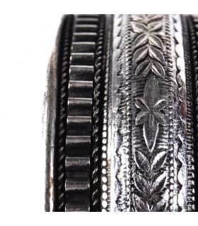 Ligne florale de bracelet argent - nouveauté