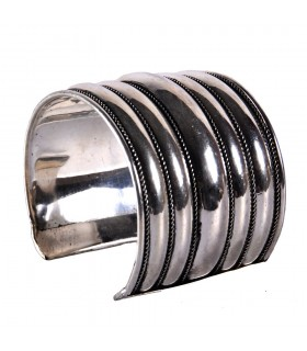 Wide Bangle silver - Penta Strip - NOVELTY
