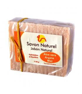 SAPONE naturale - Aloe Vera - Argan - miele - tutti i tipi di pelli 100g