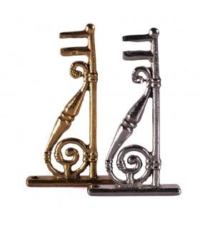 Suporte - bronze incensário ou níquel - 12cm