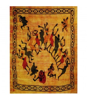 Tela Algodon-India-Fiesta Áfricana 2 -Artesana-210 x 240 cm