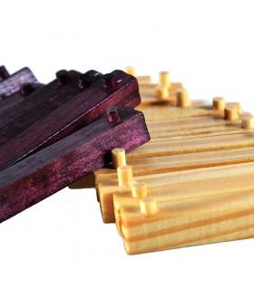 Game cube wood detachable - wit - puzzle - 7 x 7 cm