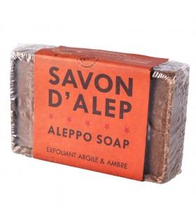 Natura - argilla e ambra - sapone Aleppo - peeling - 100g