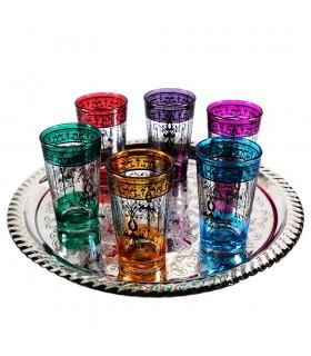 Игра 6 чашки чая печатает - филигранные цветочные хны - бабочка дизайн