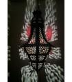 Lâmpada de bolota - tenda folheado - 60 cm - novo