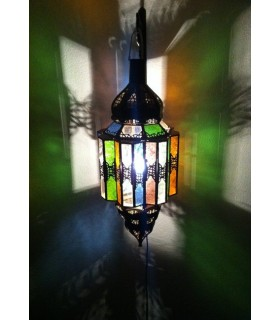 Octagonal lamp Andalusi - Multicolor glass - 60 cm