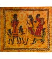 Tela Algodon India-Familia Tribu Africana-Artesana-240 x 210 cm