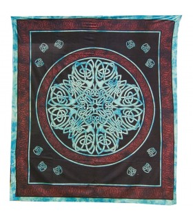 India Cotton Fabric-Geometric Cross-Artisan-210 x 240 cm