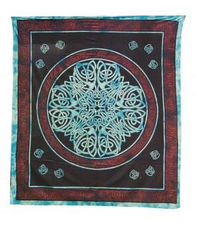 Inde Coton Tissu-Géométrique de la Croix-Artisan-210 x 240 cm