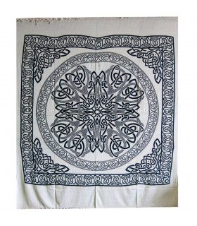 India-Sphere Cotton Fabric Geometric-Artisan-210 x 240 cm