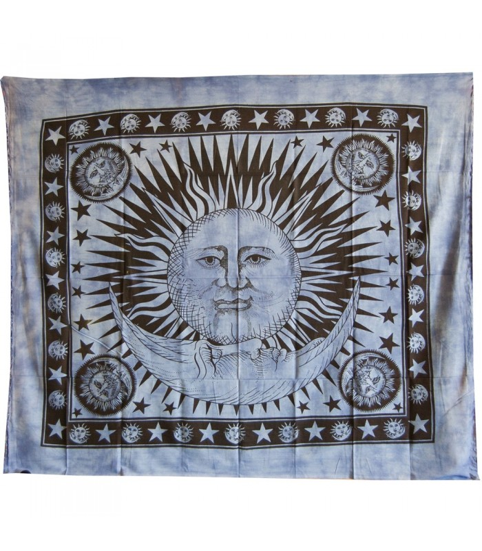 Cotton Fabric-India-Sun and Moon Color-210 x 240 cm