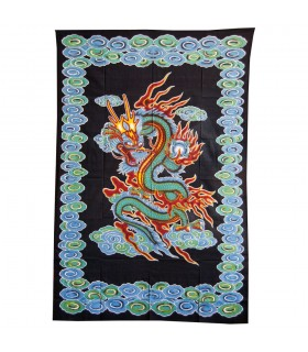 Ткань Индии китайский дракон - 210 x 140 см