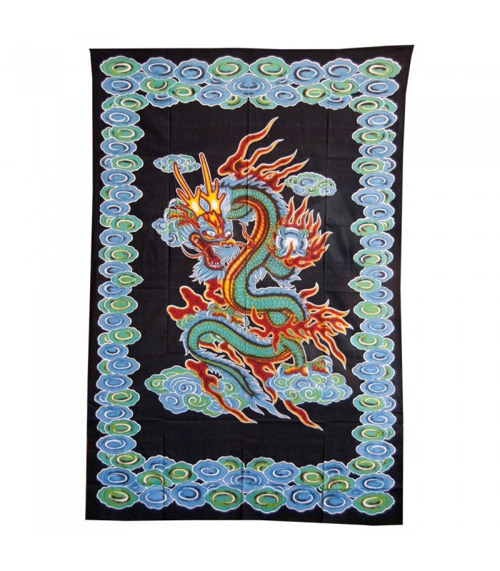 Fabric India Chinese Dragon - 210 x 140 cm