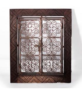 Grating with engraved wood - 2 models frame