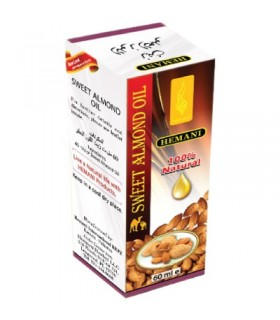 -HEMANI - 100% Natural sweet almond - oil 60 ml