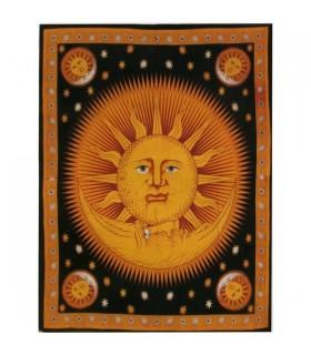 Stoff Baumwolle-Indien - guten Morgen-Color - Handwerker-135 x 210 cm