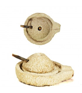 Molino Manual de Piedra - Bereber - Tamaño Pequeño - Artesano