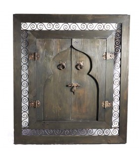 Window wood with wrought-iron doors - various models and sizes