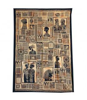Tela Algodon India-Tapiz Masai-Artesana-240 x 210 cm