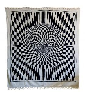 Tela Algodón India - Ilusión Óptica - Artesana - 240 x 220 cm