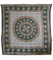 Indian Cotton Fabric - Sphere Elephants - Floral Background - 220 x 210 cm