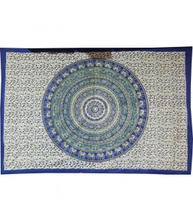 Tessuto di cotone India-Elefante Floral-Quesería Pecock - 210 x 240 cm