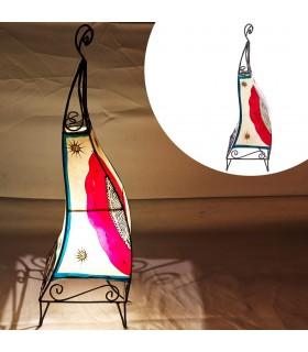 Lámparas de Piel y Forja Pintadas con Henna - Varios Modelos