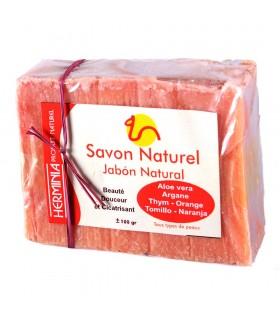 Sabão com óleo de argan orgânicos e naturais componentes
