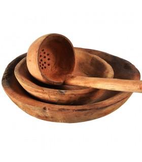 Espremedor de madeira do Dipper - 100% artesão - 46cm