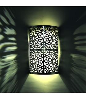 Parete in ferro mosaico di profondità - mezzo-cilindro - Alhambra - 29 cm