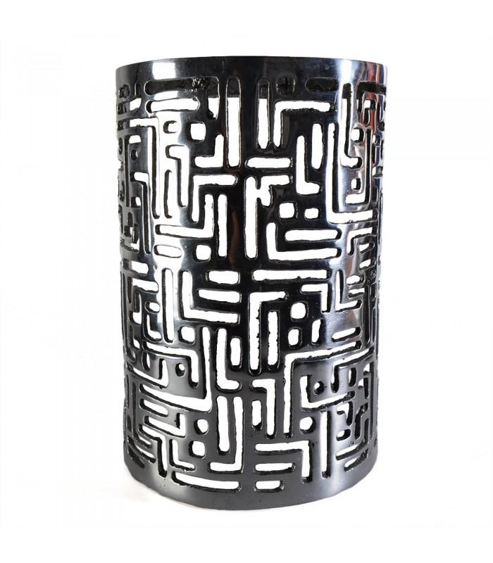 Iron feather - medium cylinder - wall writing Kufica - 28'5 cm cm29