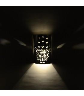 Aplique de Hierro Calado -  Medio Cilíndro - Mano De Fátima - 19 cm