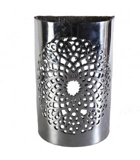 Parede de alumínio calado - campo de mosaico - acabado polido - 18 cm