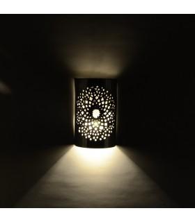 Aplique Pared Alumino Calado - Mosaico Esfera - Acabado Pulido - 18 cm