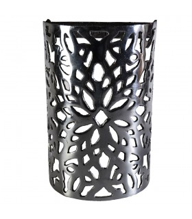 Wall aluminum draught - Floral Design - polished - finish 20 cm