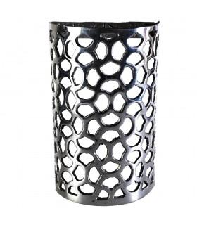 Il pescaggio di alluminio di muro - Jinkgo Biloba - lucidato finitura - 19'5 cm