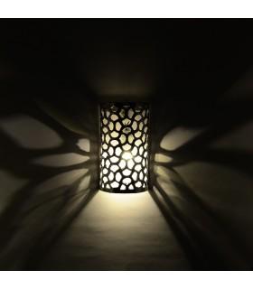 Aplique Pared Alumino Calado - Jinkgo Biloba - Acabado Pulido - 19'5 cm