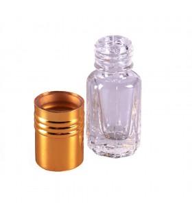Perfumero Cristal - Roll On - 3 ml - Cabeza Dorada