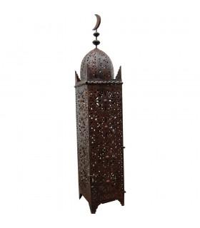 Lámpara de Hierro Calado - Alta - Diseño Arabe Luna