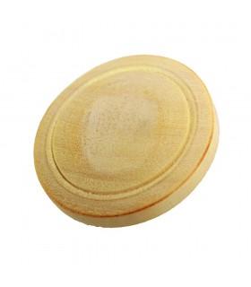 Madeira de botão esculpida limão - artesanal - 2,5 cm