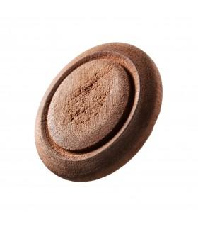 Botón Madera  Tallado - Hecho A Mano - 3 cm