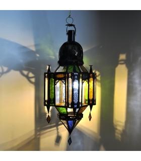 Pingente de cores de andaluza de vidro lâmpada - 3 tamanhos - árabe