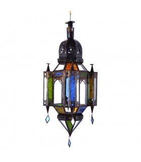 Lampe Glas andalusischen Farben Anhänger - 3 Größen - Arabisch