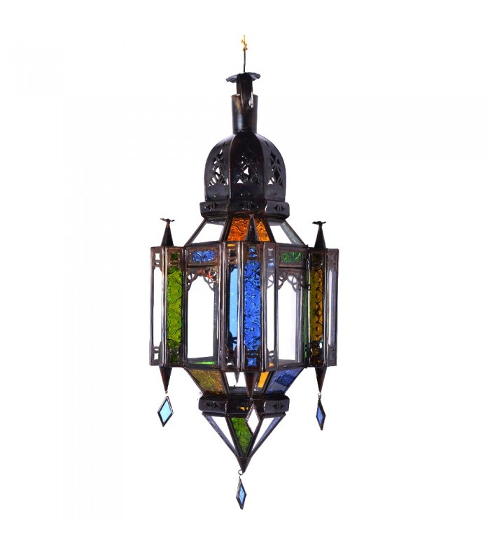 lampara cristal andalus colores colgante tamaos arabe