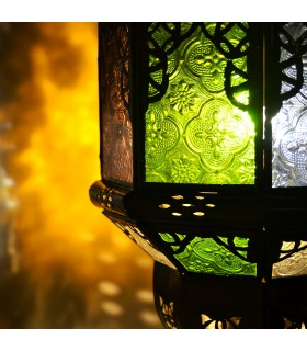 Lâmpada arcos Andalusis - cores de vidro - novidade