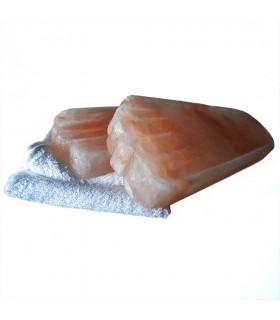 Bloques Sal Del Himalaya - Forma Pies - Desintoxicante -Relajante - 29 cm