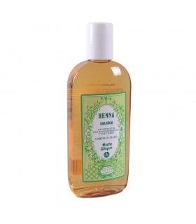 Shampoo hena com natural extratos de bardana e noz verde - gordura do cabelo - Radhe Shyam - 250ml