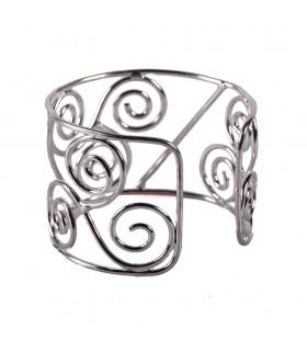 Bracelet argenté métal - tourbillon Triple
